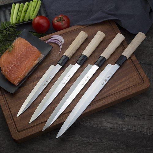 Japanese Sashimi Knife Professional Salmon Sashimi Sushi Cooking Knife Set Fish Fillet Sashimi Kitchen Knives