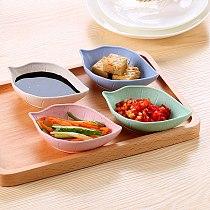 2Pcs Seasoning Dish Wheat Creative Sugar Salad Tomato Paste Sauce Dishes Kitchen Easy To Clean Bowl Dip Kitchen Tableware