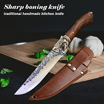 Handmade Kitchen Chef Knife Sharp Boning Knives Cleaver Vegetable Cutter Outdoor Camping Knifes Butcher Knife Cooking Tools