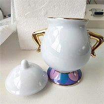 Cartoon Beauty Coffee Set Sugar Bowl Pot Potts Chip Teapot Cup Creamer Set Lovely Xmas Birthday Gift Fast Post