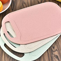 Vegetable Meat Cheese Plastic Cutting Board Chopping Boards Groove Large Handle Non-Slip Bottom