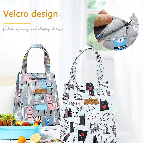 cooler lunch bag fashion ctue cat multicolor bags women waterpr hand pack thermal breakfast box portable picnic travel
