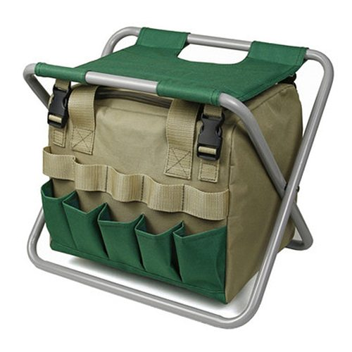 40# Garden Tool Bag Organizer Multifunctional Portable Tool Storage Green Oxford Wall Hanging Storage Bags Pockets For Garden