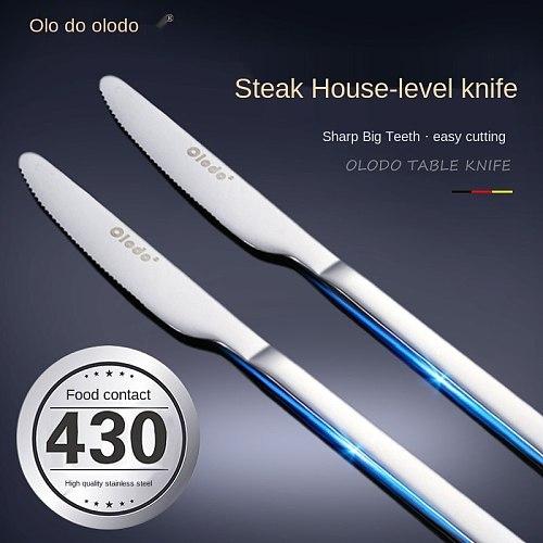 Stainless Steel Western Knives Steak Knife Toothed Dinner Knife Pork Chop Knife Western Food Knife and Fork Set Western Food