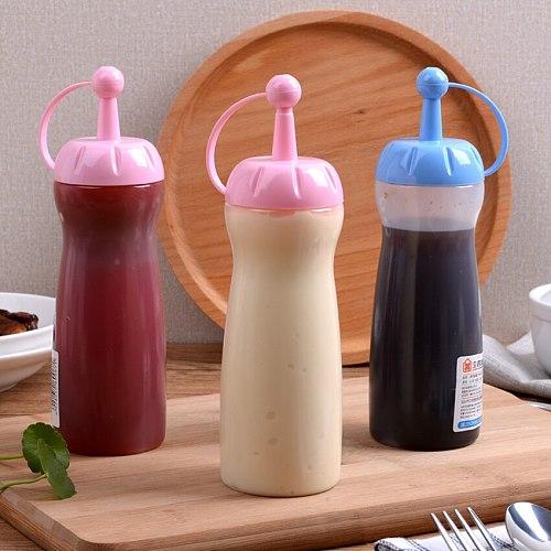Jam Sauce Squeeze Bottle Plastic Squirt Out Ketchup Vinegar Oil Condiment Dispenser Gravy Boat Kitchen Transparent Container
