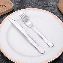 410 Stainless Steel Western Food Set Steak Knife Fork 2Pcs/set Household Western-style Tableware Hotel Restaurant Cutlery