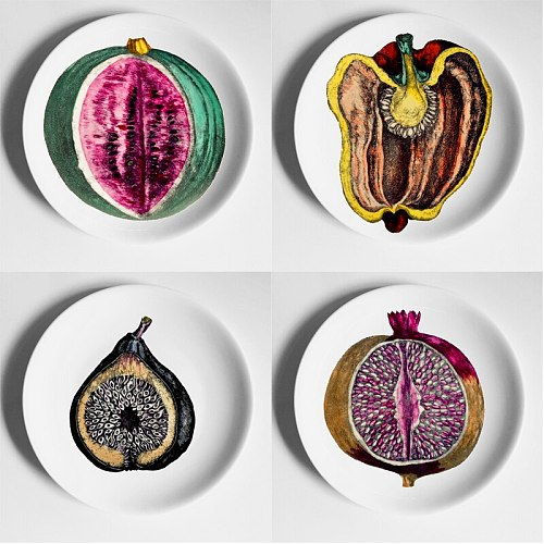 Hot Lina Face Piero Plates Beauty Illustration Hanging Decorative Craft Dishes Home Hotel Bar Background Adornment Plate