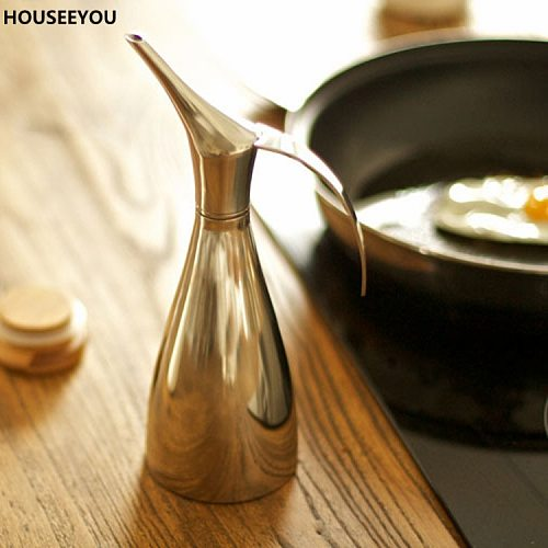 High-quality Gravy Boats Oiler Spill Prevention Stainless Steel Sauce Seasoning Pot Olive Oil Condiment Container Kitchen Tools