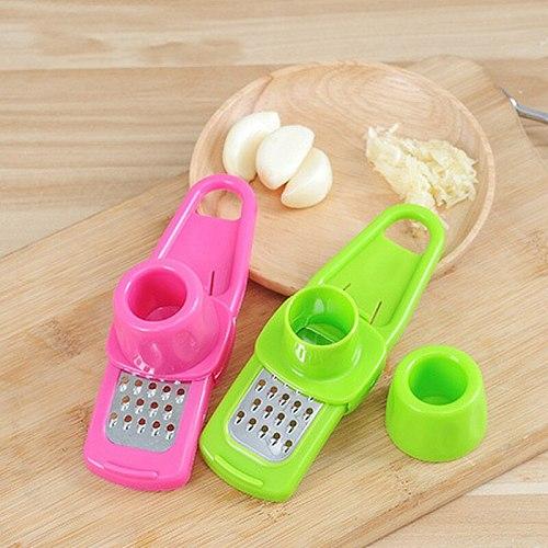Kitchen gadgets multi-function stainless steel garlic press garlic press peeler grater garlic grinder micro planer meat cutting