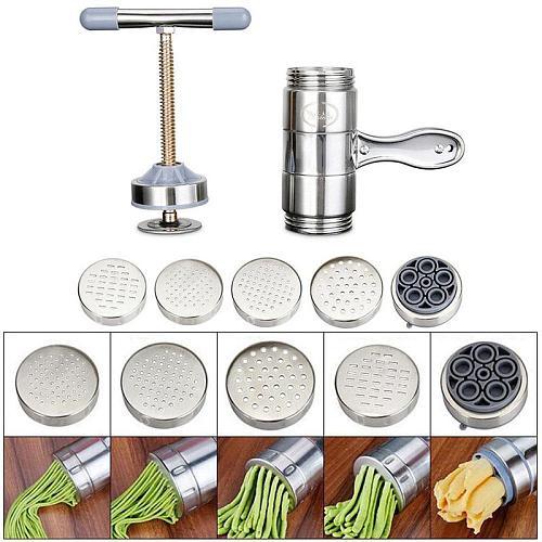 Mini Noodle Press Machine Stainless Steel Manual Noodle Spaetzle Pastas Making Maker Presse Maker Household Machine Y5I0
