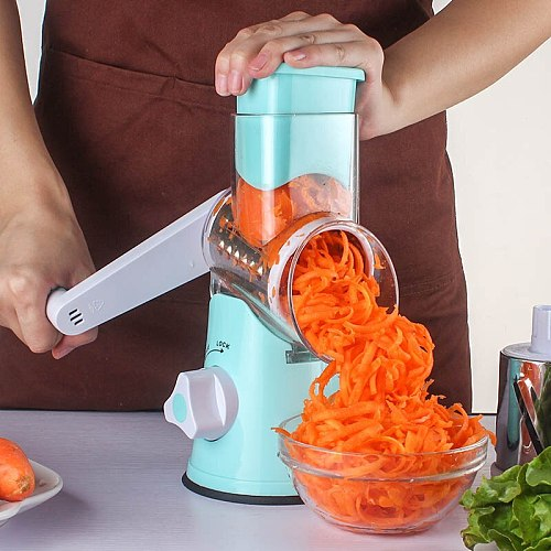 3 In1 Multifunctional Vegetable Cutter Round Mandoline Grater for Vegetables Vegetable Spiralizer Potato Slicer Kitchen Gadgets