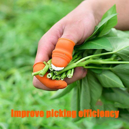Thumb Knife Finger Protector Vegetable Harvesting Knife Plant Blade Scissors Cutting Rings Garden Gloves