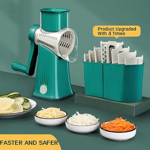 Kitchen Machine Vegetable Cutter Manual Vegetable Slicer Potato Graters Rotary Slicer Spiralizer Shredder Kitchen Gadgets Tools