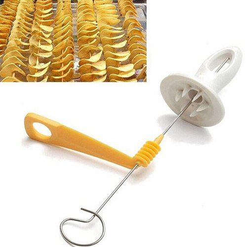 1pc Potato Tornado Slicer Manual Cutter Spiral Chips Cooking Tools Maker Vegetables Spiral Knife Kitchen Accessories Gadgets New