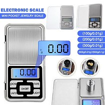 Mini Digital Pocket Scale 100/200/300/500g 0.01g/0.1g High Accuracy Backlight Gram Weight Pocket Scale For Jewelry Kitchen