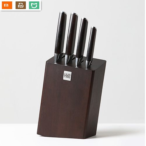 5 Pcs/set Huohou Composite steel knife all-purpose Stainless Steel Kitchen Knife Slicing chef Chopped bone From Xiaomi youpin