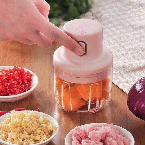 Wireless Electric Meat Grinder Food Chopper Mini Stainless Electric Kitchen Chopper Meat Grinder Shredder