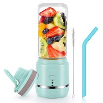Portable Personal Blender, USB Rechargeable Wireless Electric Juicer Blender for Fruit Smoothies