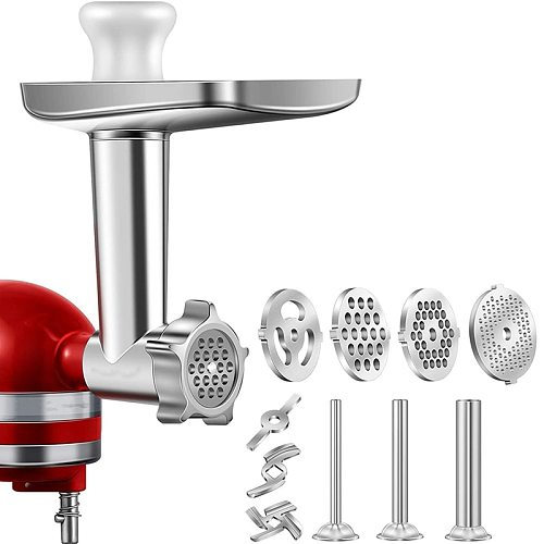 1 Set Metal Food Grinder Attachment for KitchenAid Stand Mixers, Meat Grinder Attachment Included