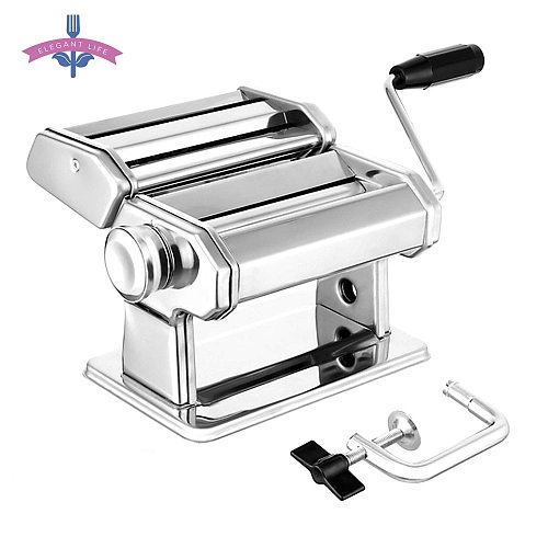Noodle Maker Machine Manual Pasta Maker Noodle Press Cutter Machine 7 Thickness Settings Fresh Macaroni Lasagna Noodle Roll DIY