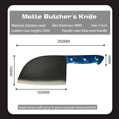 XYj Butcher Knife Stainless Steel Serbian Hunting Knife Outdoor Handmade Forged Serbian Chef Knife Survival Cooking Hiking Tool