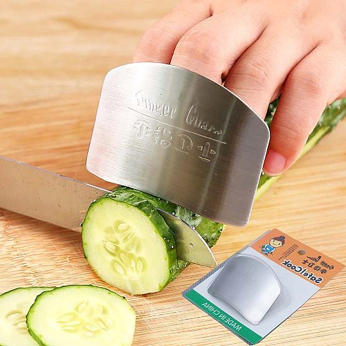 Stainless Steel Finger Protector Anti-cut Finger Guard Kitchen Tools Safe Vegetable Cutting Hand Protecter Kitchen Gadgets#50