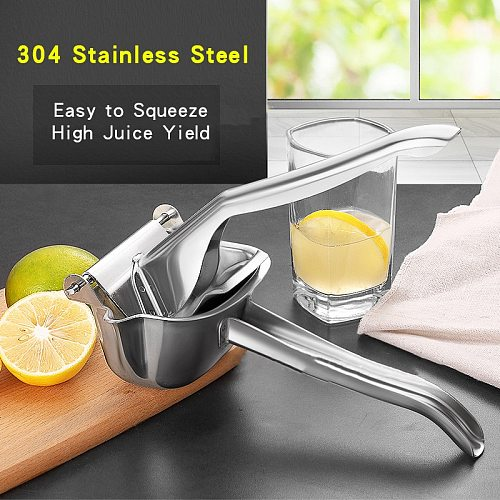 Stainless Steel Fruits Juicer Squeezer Station Orange Hand Manual Juicer Kitchen Lemon Juicers Orange Queezer Juice Pressing
