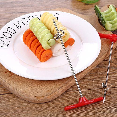 Vegetables Spiral Knife Carving Tool Potato Carrot Cucumber Salad Chopper Manual Spiral Screw Slicer Cutter Spiralizer
