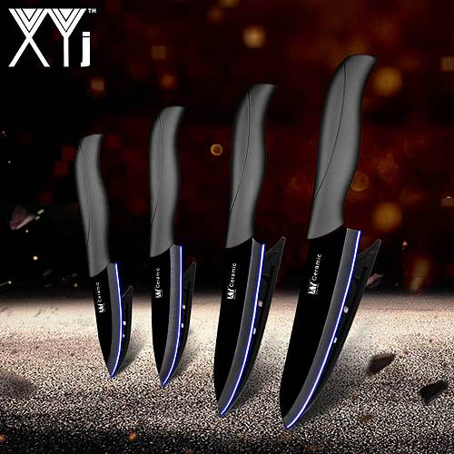 XYj Master Chef Ceramic Kitchen Knife Set 3 Paring 4 Utility 5 Slicing 6 Chef Kitchen Knife High Hardness Ceramic Cooking Tools