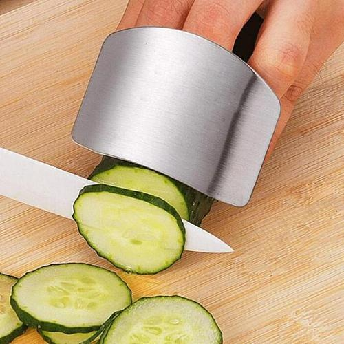 1pcs Stainless Steel Knife Finger Hand Guard Anti-cutting Finger Protector Vegetable Cutting Hand Guard Creative Kitchen Gadgets