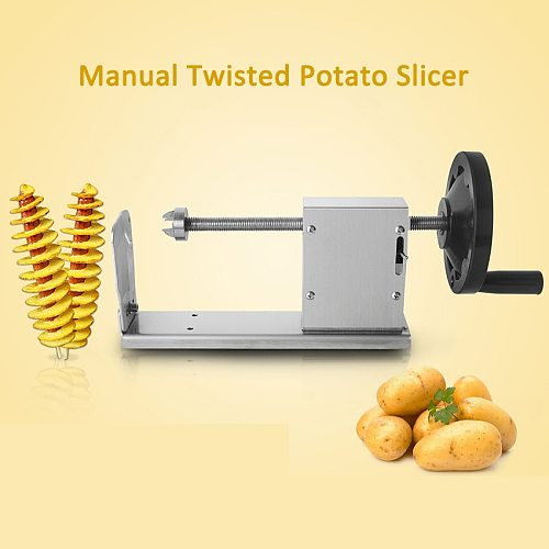 Manual Stainless Steel Twisted Potato Apple Slicer Spiral French Fry Cutter Tomato TwisterVegetable Cooking Tools Machine