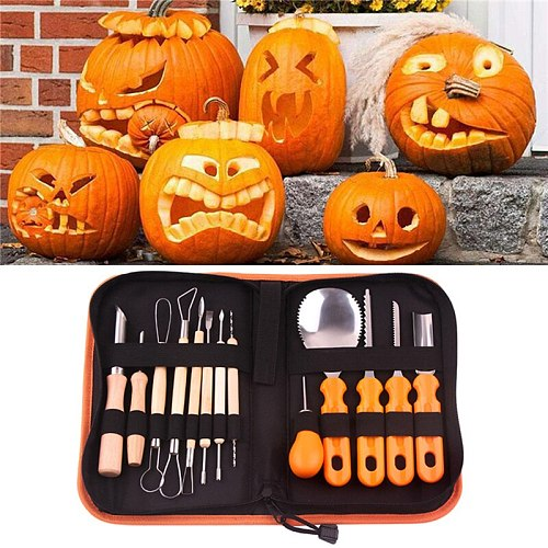 Christmas Halloween Professional Pumpkin Carving Tools Pumpkin Light Decoration Kitchen Cooking Knife DIY Carving Tool Set