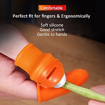 Pro Durable Practical Thumb Cutter Beans Picker High Elasticity Finger Guards Plant Picking Tool Kitchen Gadget Save Effort Gard