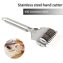 Pressing Machine Stainless Steel Non-slip Handle Cutter Manual Shallot Cutter Noodle Cut Spaetzle Makers Tools Kitchen Gadgets