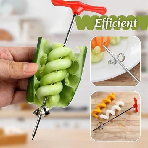 Manual Roller Spiral Slicer Radish Potato Tools  Fruit Carving Tools Vegetable Spiral Cutter Kitchen Accessories  Drop Shipper