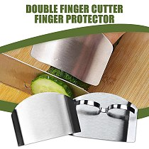 Stainless Steel Finger Guard Protect Hand Cutting Kitchen Gadgets Stainless Steel Multi-Purpose Anti-Cutting Finger Guard