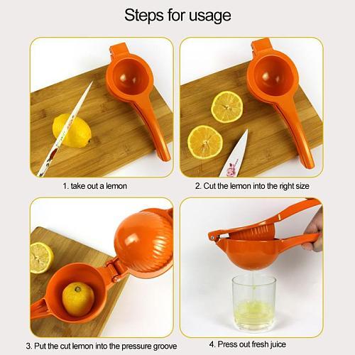 Manual Juicer Lemon Orange Citrus Juicer Kitchen Accessories Household Multi-functional Mini Portable Kitchen Tool