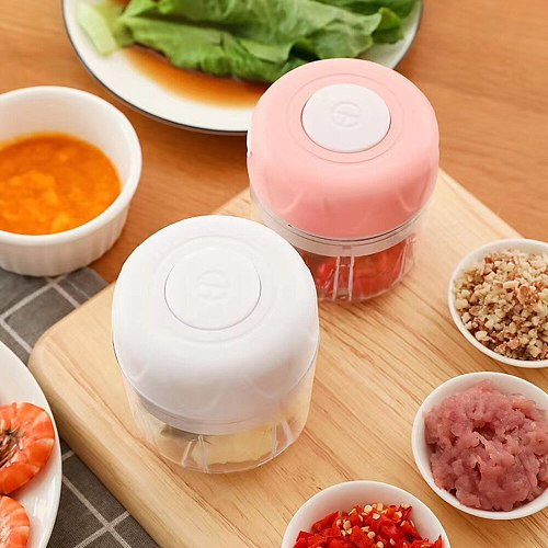 Household Mini Food Chopper Wireless Electric Garlic Press Mincer Food Processor Vegetable Grinder Home Kitchen Tools