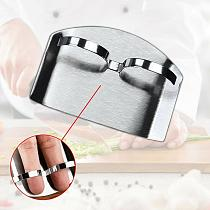 1pc Safety Steel Finger Hand Protector Guard Tool Vegetable Hand Guard Cut Cutting Finger Kitchen Knif J1C0