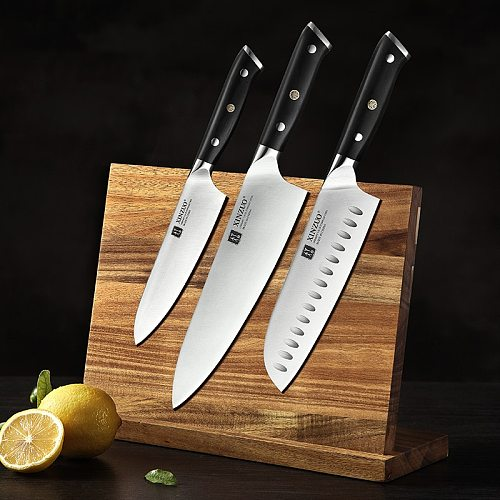 XINZUO 3PCS Knife Set 1.4116 Stainless Steel 5  Utility 7 Santoku 8.5 Chef Slicing Knives Peeling Janpanse Vege Cleaver Knives