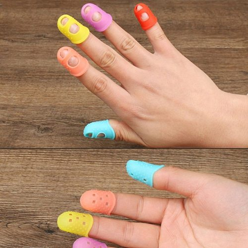 Silicone Finger Protective Cover Kitchen Cooking Tool Cut-Resistant Heat-Resistant Non-Slip Finger Guard