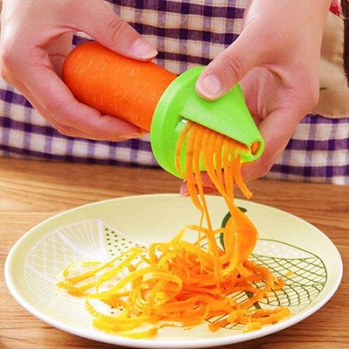 Vegetable Fruit Slicer Stainless Steel Potato Cutting Spiral Slicer Carrot Shred Device Cook Salad Radish Cutter Kitchen Tools