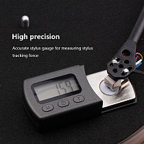 LCD  Portable Digital Turntable Stylus Force Scale Meter Gauge Backlight High Precise Tracking Guage For Vinyl Record Needle
