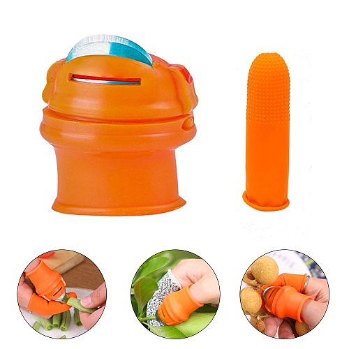 Thumb Knife Kitchen Garden Finger Cutter Finger Protector Fruit and Vegetable Picker for Quickly Cutting Vegetables Plant Orange