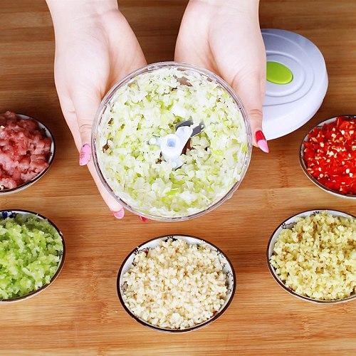 Multifunction High Quality New High Speedy Design Vegetable Fruit Twist Shredder Manual Meat Grinder Chopper Garlic Cutter