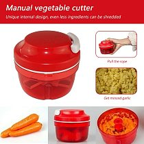Mini Garlic Chopper Kichen Mincing Device Hand Grinder Vegetable Meat Shredder for Household Kitchen Helping Decor