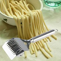 Stainless Steel home Noodles Cutter Non-slip Handle Pasta Maker Tools Roller Manual Shallot Section Dough Cutter Kitchen Gadgets