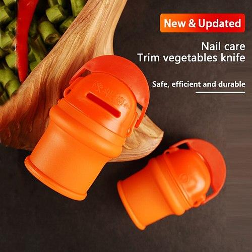 Thumb Knife Finger Protector Metal Fingernail Vegetable Harvesting Scissors Plant Blade Scissors Cutting Rings Garden Gloves