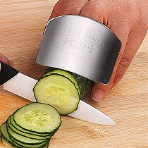 Stainless Steel Finger Hand Protector Guard Knife Cut Finger Protection Vegetable Cutting Hand Guard Kitchen Tool Gadgets