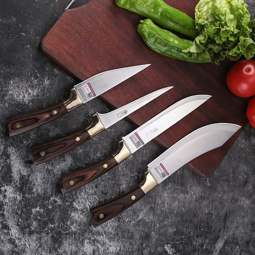 DENGJIA 7Cr17 Stainless Steel Handmade Forged Easy and Convenient To Cut Vegetable Kitchen Essential Cooking Knife Set